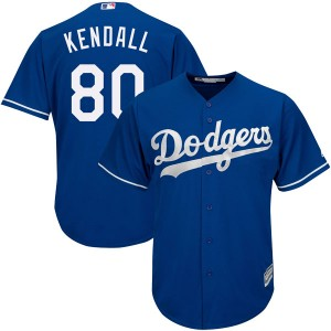 Youth Majestic Jeren Kendall Los Angeles Dodgers Authentic Royal Cool Base Alternate Jersey