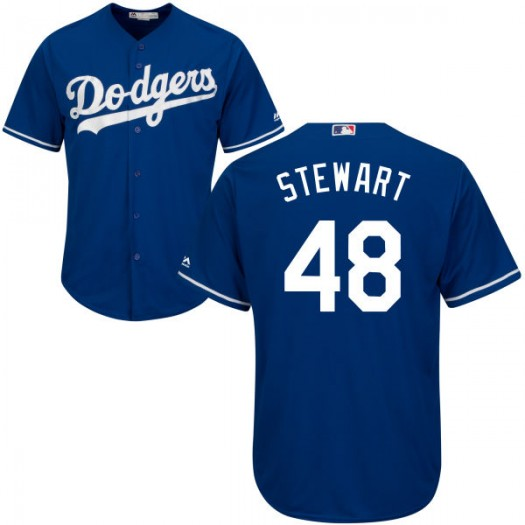Men's Majestic Brock Stewart Los Angeles Dodgers Player Replica Royal Cool Base Jersey