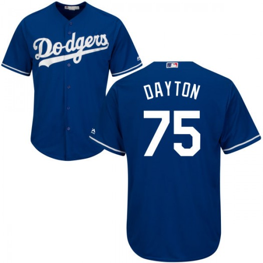 Youth Majestic Grant Dayton Los Angeles Dodgers Player Replica Royal Cool Base Jersey