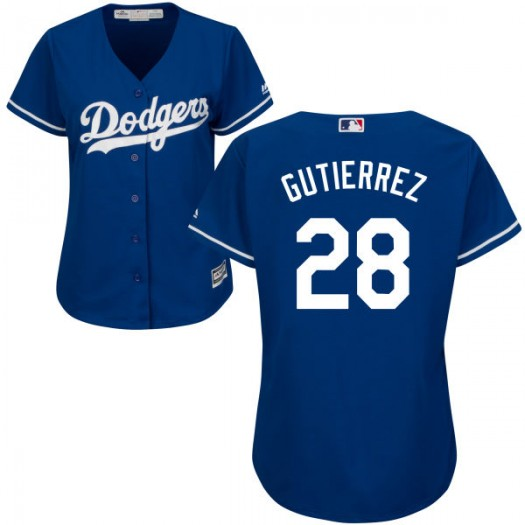 Women's Majestic Franklin Gutierrez Los Angeles Dodgers Player Authentic Royal Alternate Cool Base Jersey