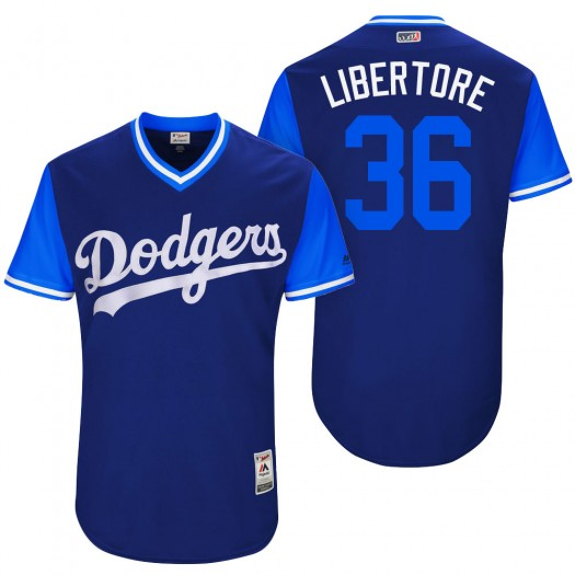 """Men's Adam Liberatore Los Angeles Dodgers Player Authentic Royal """"Libertore"""" 2017 Players Weekend Jersey"""