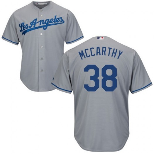 Youth Majestic Brandon McCarthy Los Angeles Dodgers Player Authentic Grey Road Cool Base Jersey