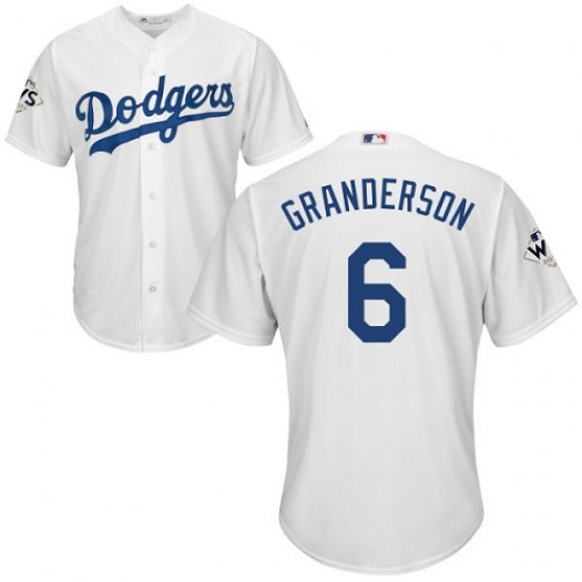 Youth Majestic Curtis Granderson Los Angeles Dodgers Player Authentic White Home 2017 World Series Bound Cool Base Jersey